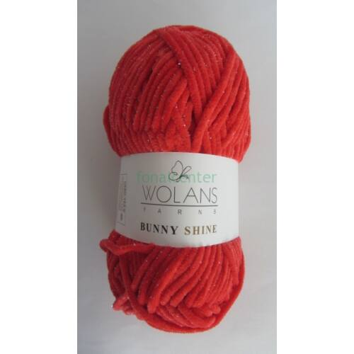 Wolans Yarns BUNNY SHINE fonal, Színkód: 820-08, piros