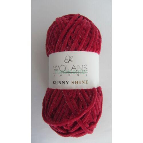 Wolans Yarns BUNNY SHINE fonal, Színkód: 820-20, burgundi